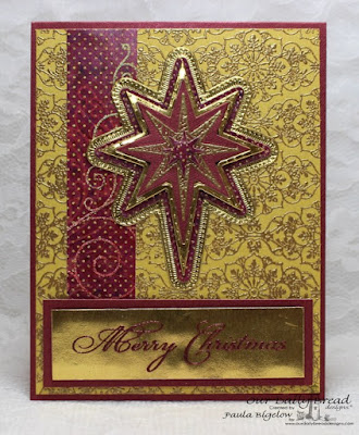 Our Daily Bread Designs: Ornate Background, Silk Stars, Christmas Verses, Splendorous Stars Dies, Shining Star Die, Flourished Star Pattern Dies, Christmas Collection 2015 paper, designed by Paula Bigelow