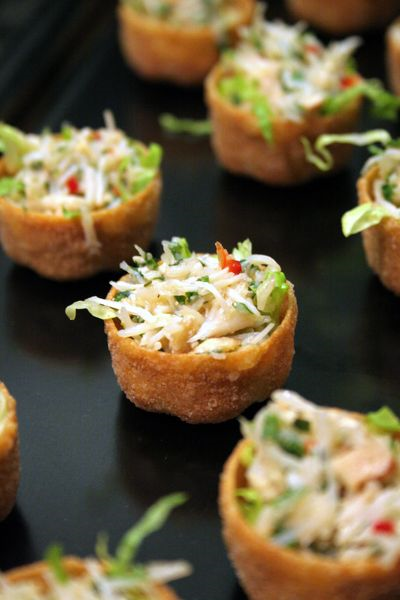 Pin Wonton Cups With Cream Cheese And Chutney Cake on Pinterest