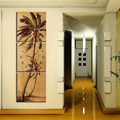 Reloj de pared lienzo palmeras