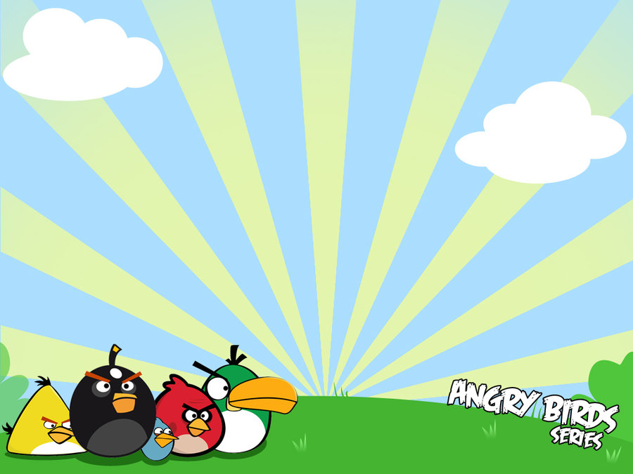 "... As"" to download the Angry Birds wallpaper, PowerPoint background"