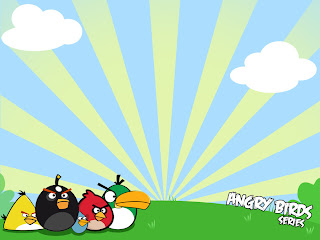 "As"" to download the Angry Birds wallpaper, PowerPoint background"