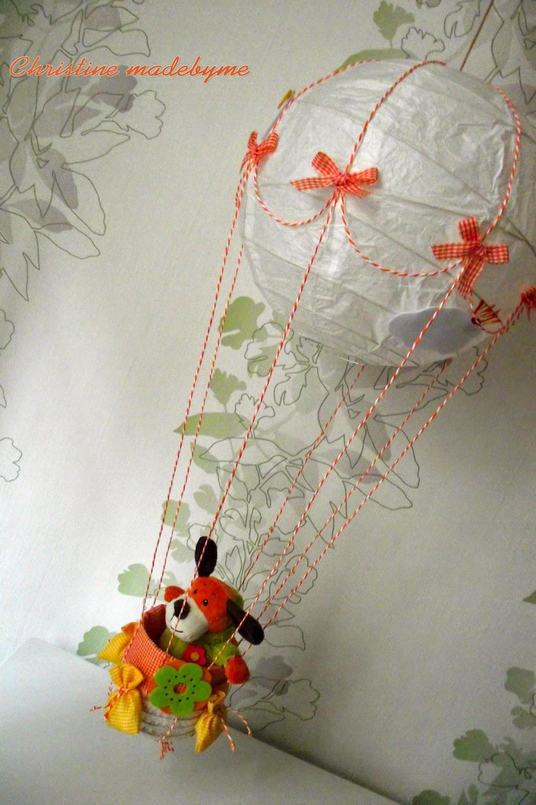 Φωτιστικό - αερόστατο για παιδικό δωμάτιο