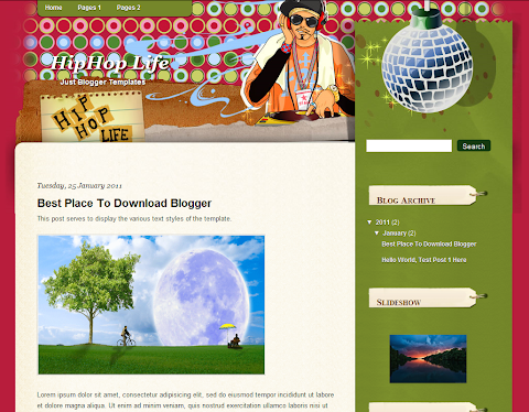 Hiphop Life Blogger Theme