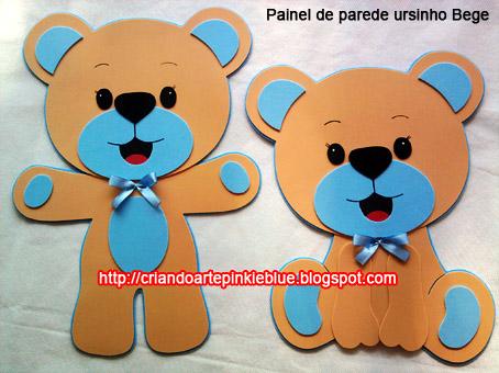 Pinkie Blue Artigos Para Festa Painel De Parede Ursinho De Eva