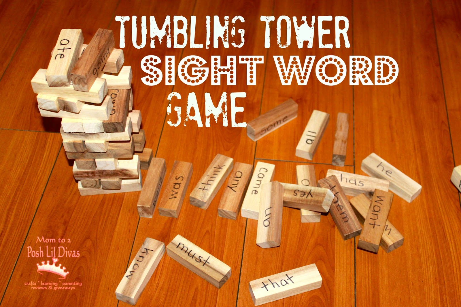 Sight Word Blocks Our Target Sight Words And