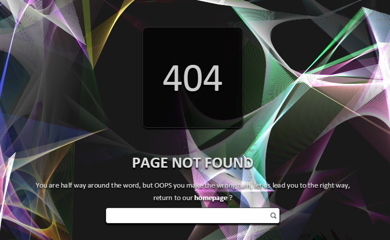 Membuat Error Page 404 Efek Animasi Glazing Ribbon di Blog