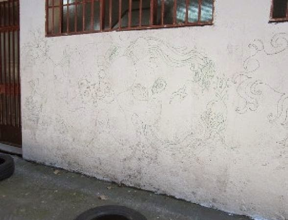 Pared del aparcabicis