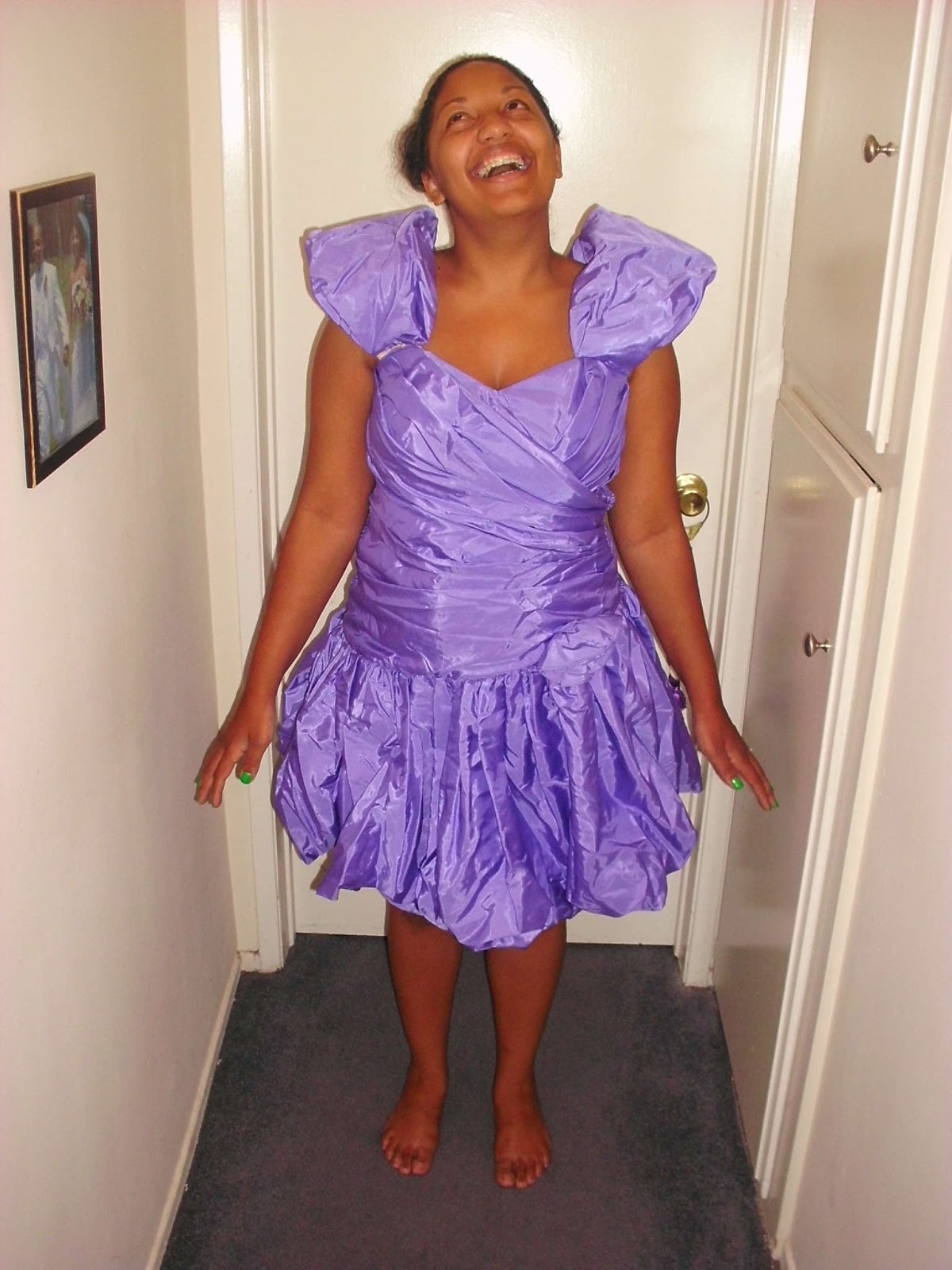 New Dreams For Old Seams 48 Purple Prom Dress