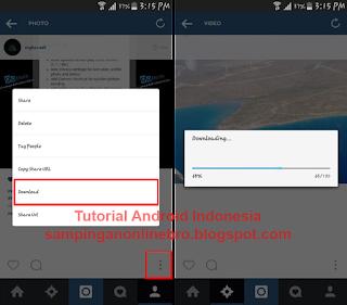 proses download foto dan video instagram plus