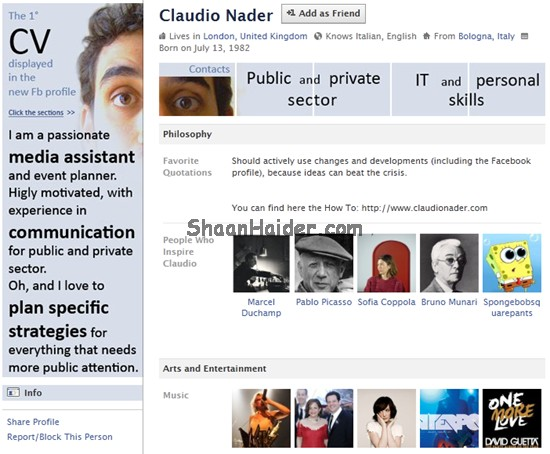 HOW TO : Use Your Facebook Profile As CV