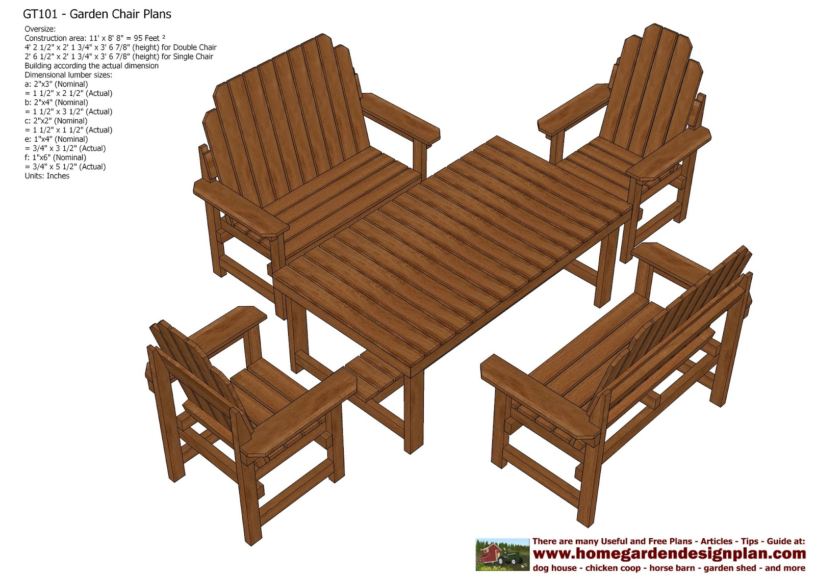 home garden plans GT101 Garden Teak Table Plans Out