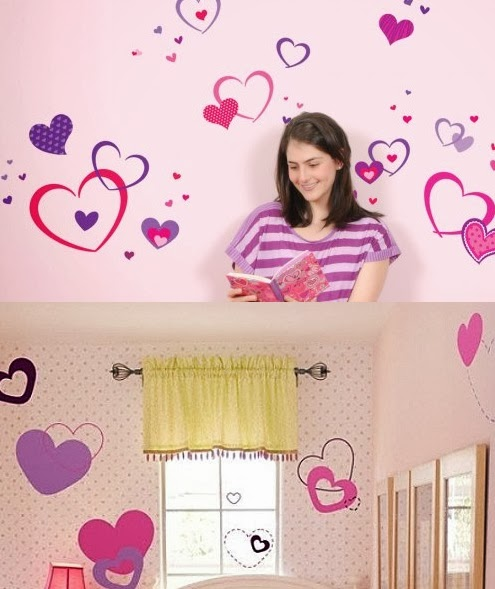 Decoraci n de las paredes del dormitorio infantil - Decoracion de paredes con vinilos adhesivos ...