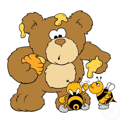 cute bear stealing honey photosculpture
