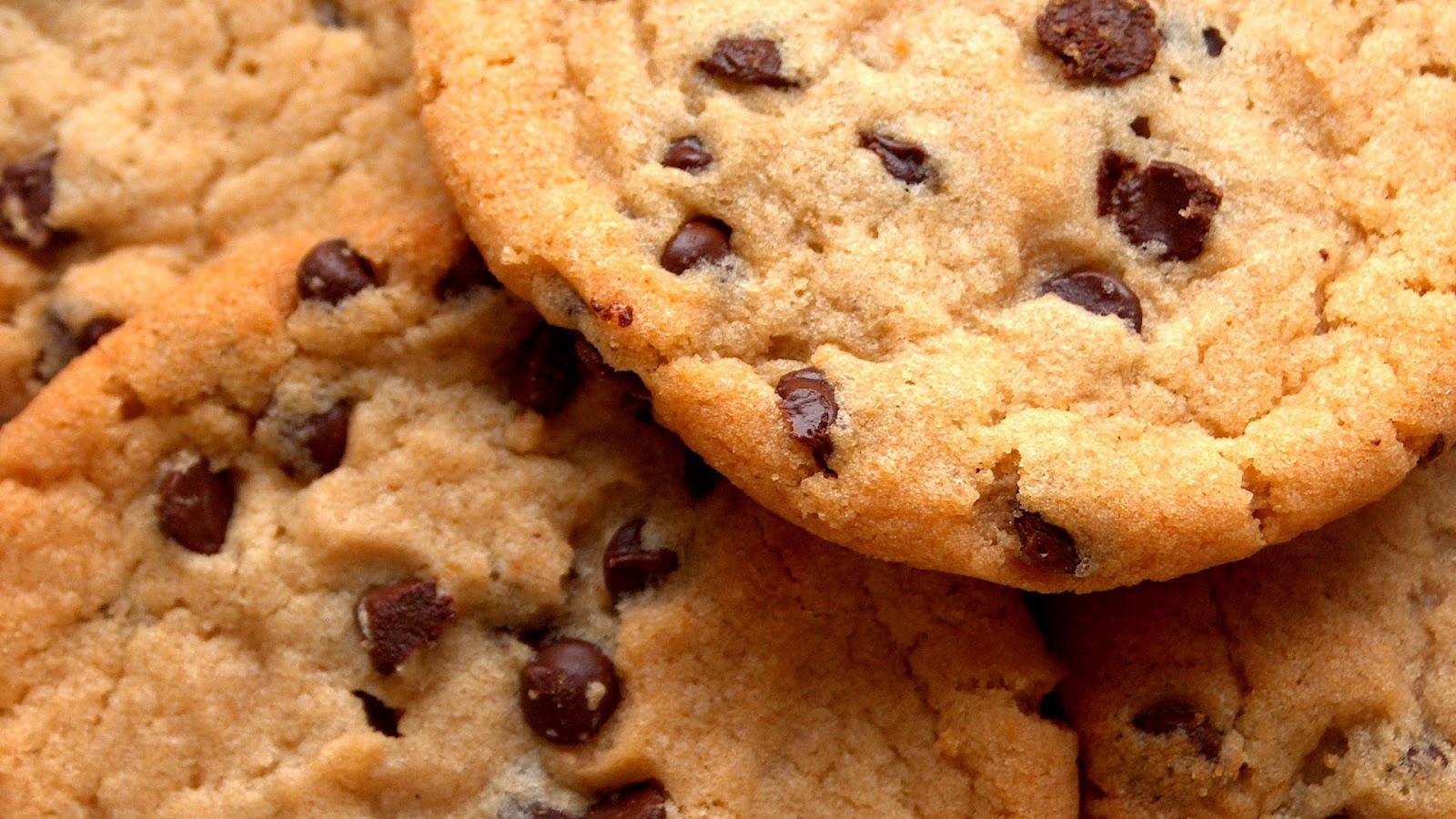 ... chocolate chip cookies met stukjes chocolade een chocolate chip cookie