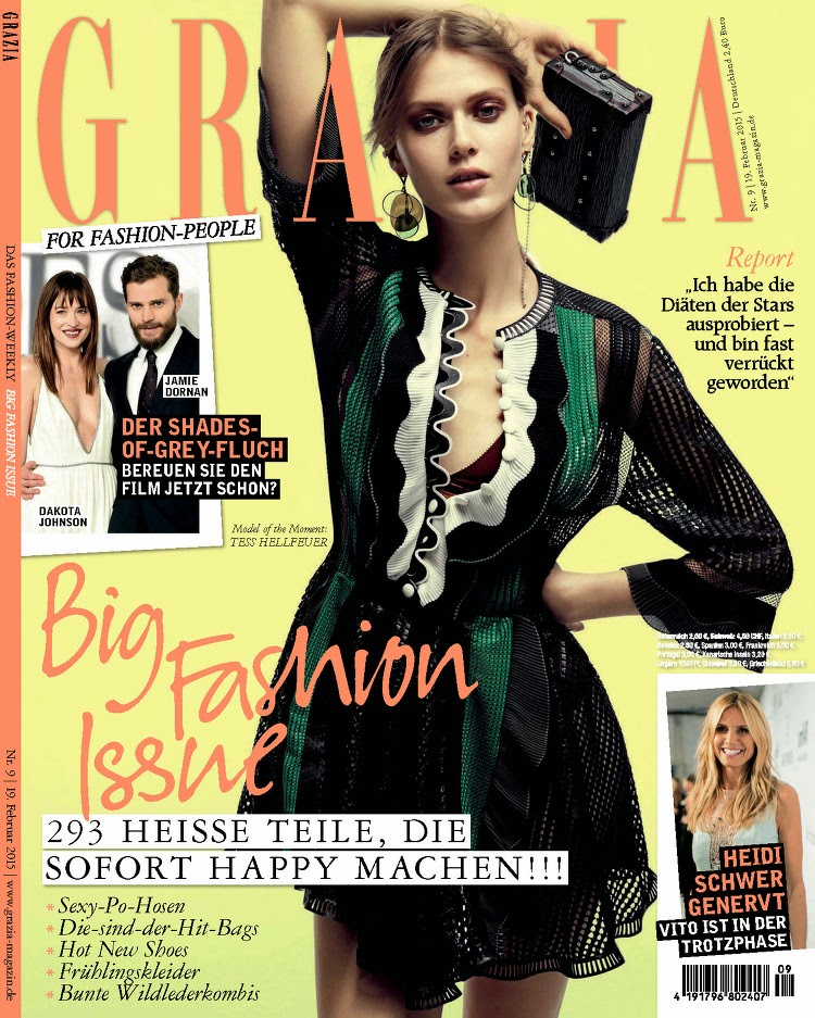Supermodel: Tess Hellfeuer - Grazia, February 2015