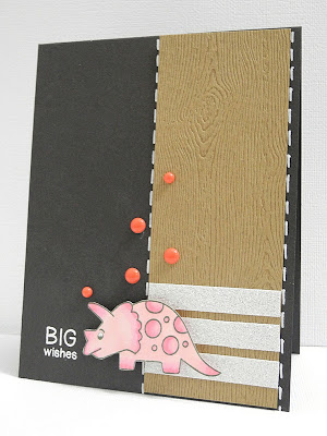 Big Wishes Pink Dinosaur Card Newton's Nook Designs