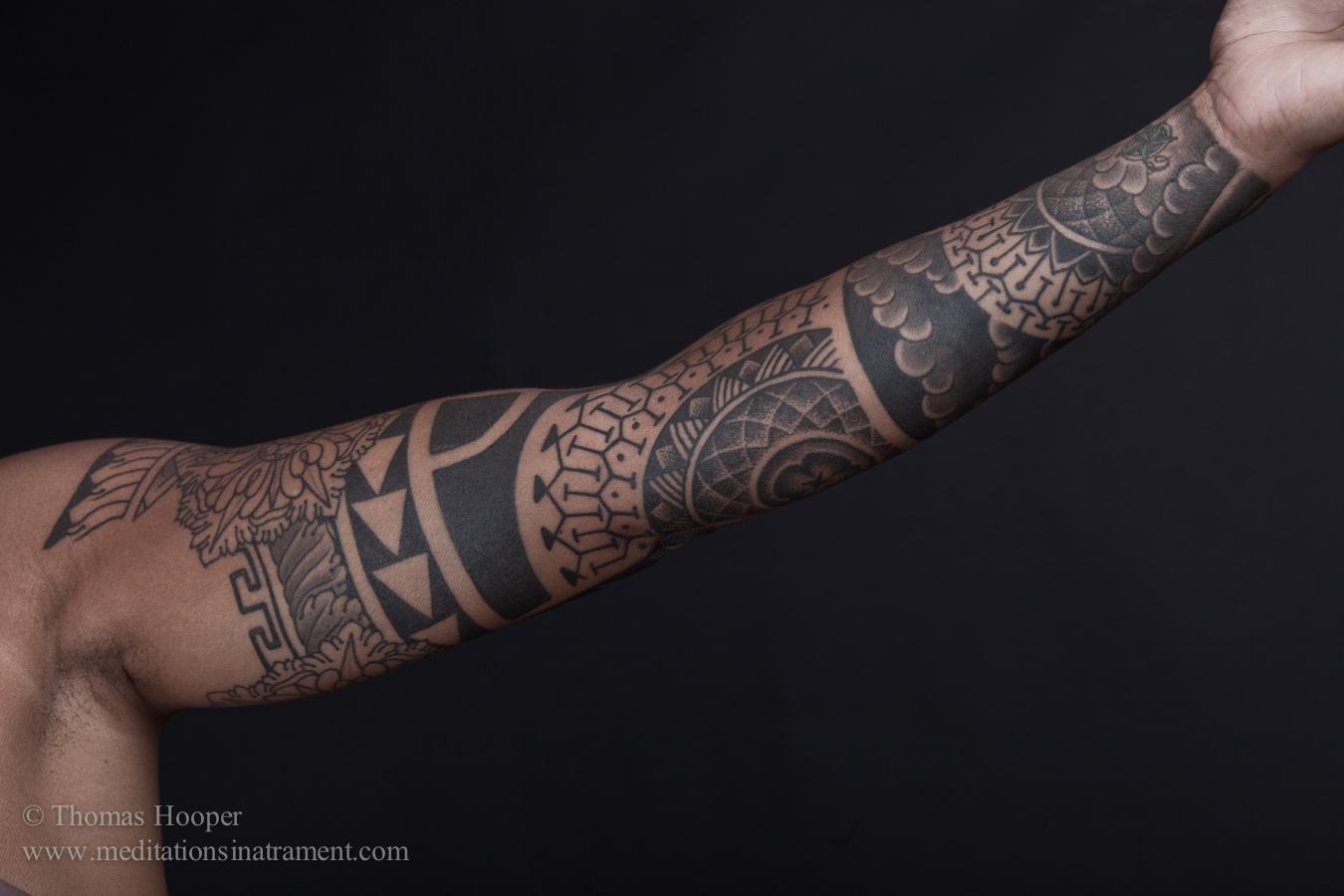 Sacred Geometry Band Wrist Hand Tattoo Design
