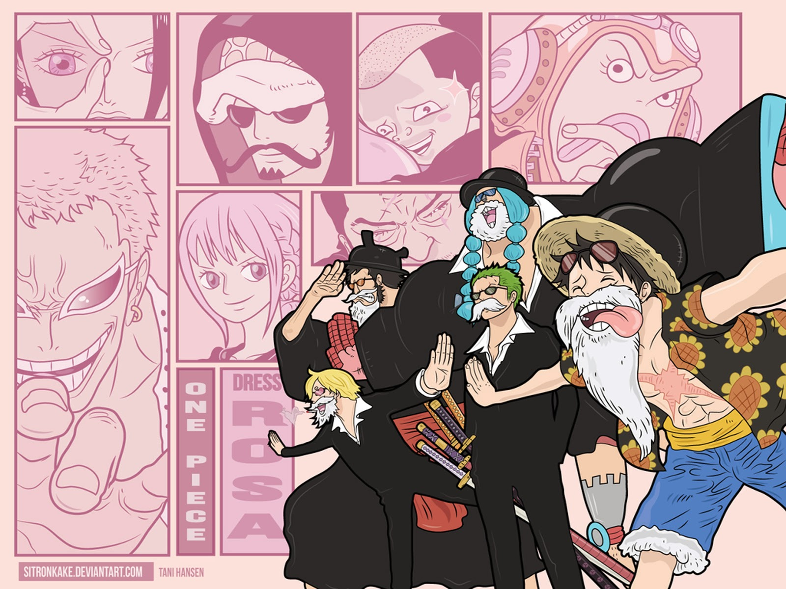 Dressrosa Arc One Piece a850