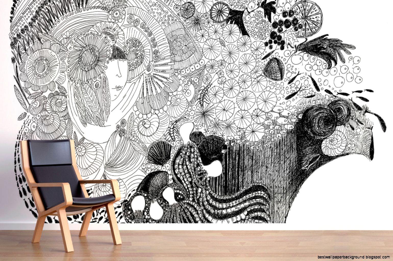 Custom Mural Wallpaper  Antique Frangipani Mural Wallpaper Nt