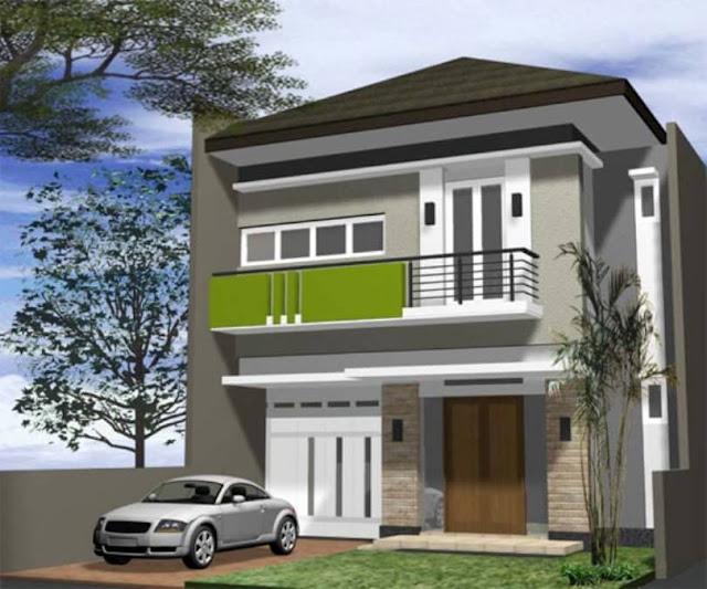 rumah minimalis bertingkat belakang