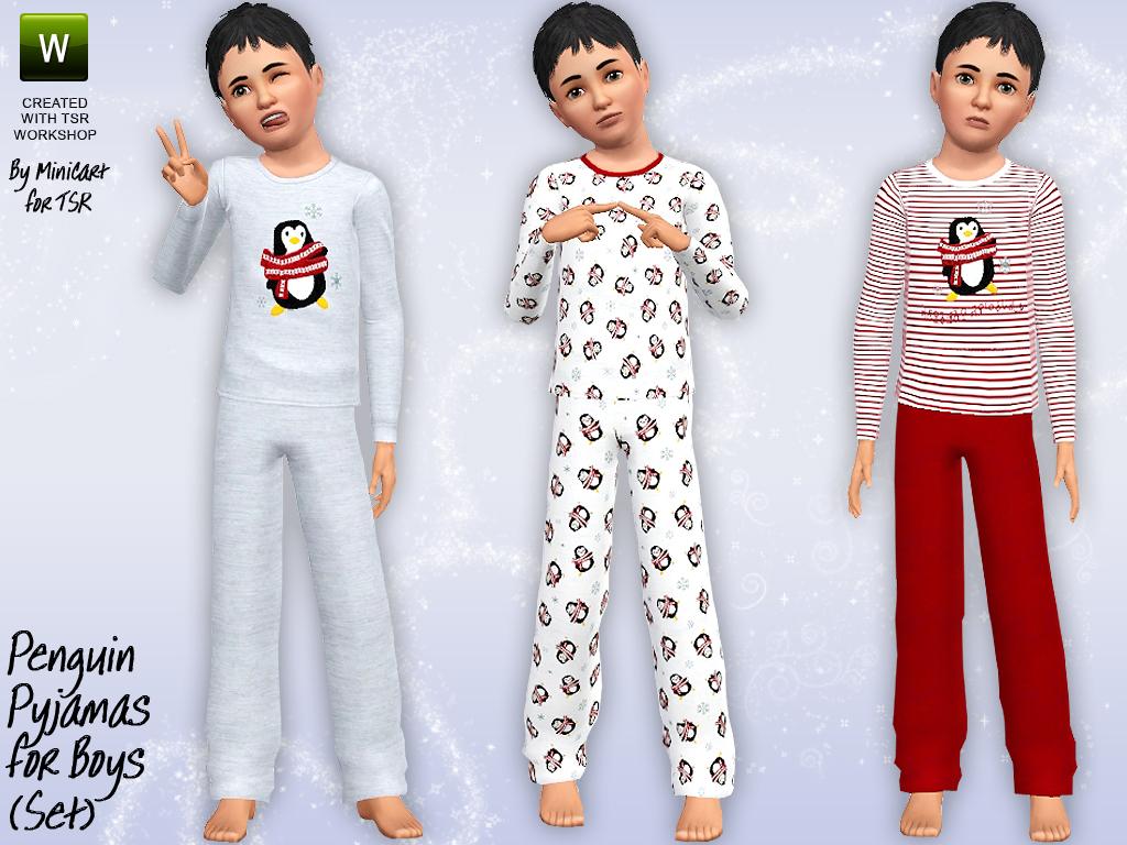 Minicart TSR: Penguin Pyjamas for Boys