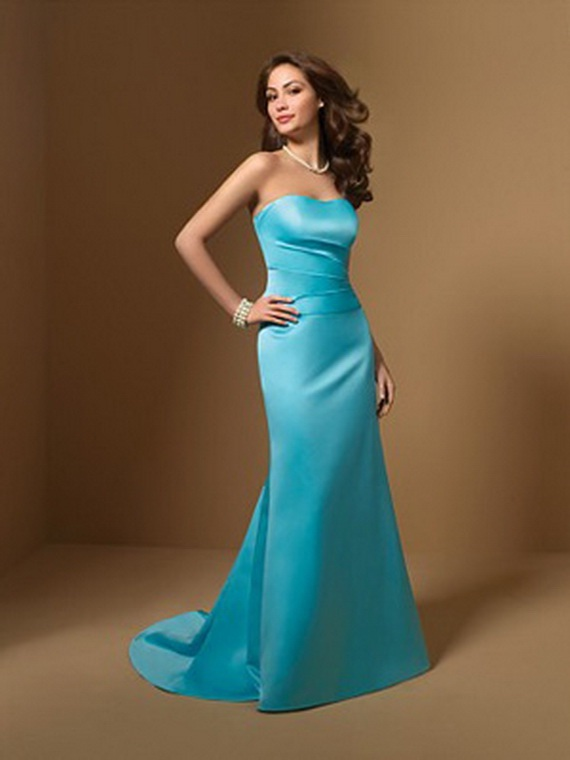 Azure blue bridesmaid dresses