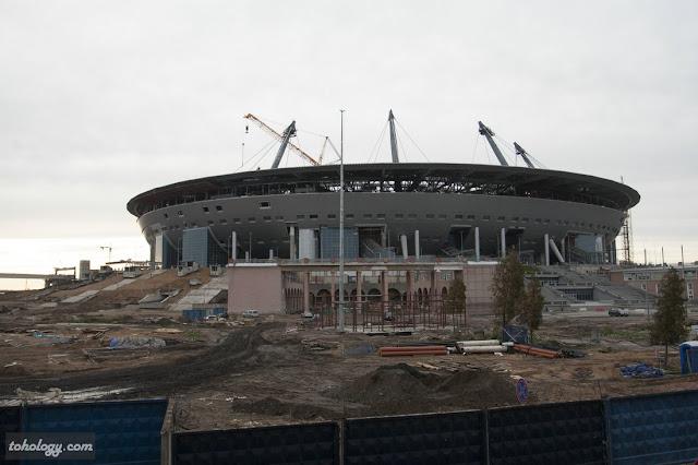 New Zenit Stadium near Sibur Arena // Строительство стадиона «Зенит Арена»