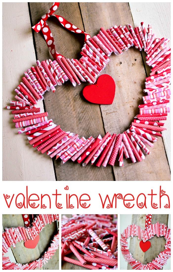 Valentine Wreath Part - 15: Paper U201cRoll-Upu201d Valentine Wreath Tutorial