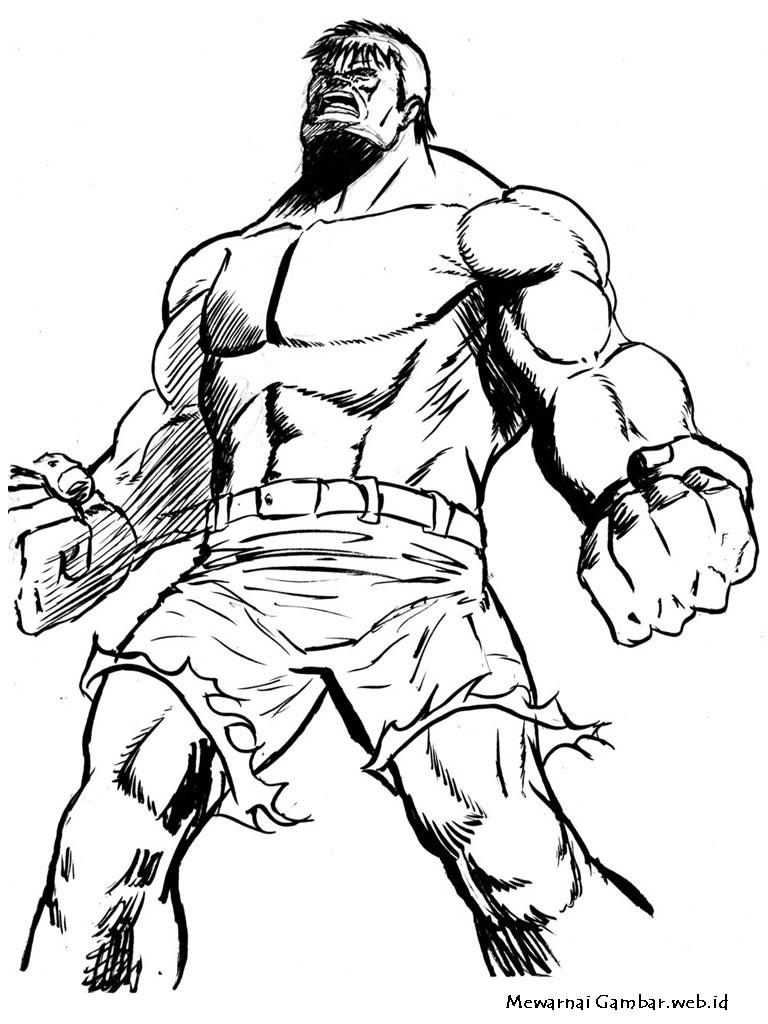 Gambar Sketsa Kartun Superhero