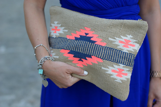 Aztec print clutch, Pull & Bear clutch, Tiffany bracelets, Fashion and Cookies