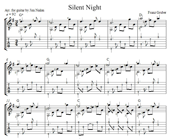 Chords to silent night
