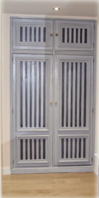 El desv n de los trastucos renovar un armario de un recibidor - Renovar armario empotrado ...
