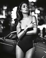Berenice Marlohe in a black bodysuit