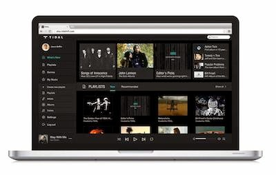 TIDAL Web player image