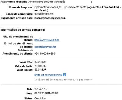 2ª Prova Pagamento Sumafan (9,01€)