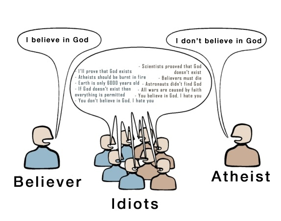 The Major Difference Between Believer Idiot And Atheist