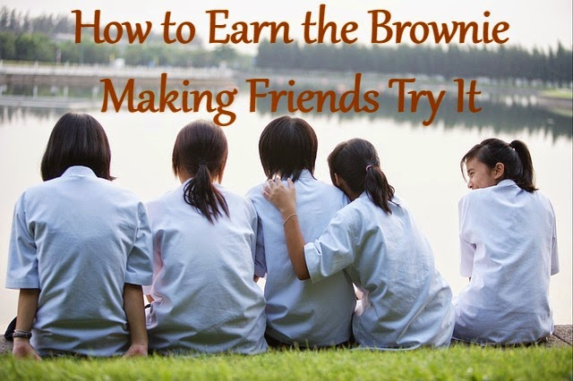 Meeting plan with games and activities for the Brownie Making Friends Badge