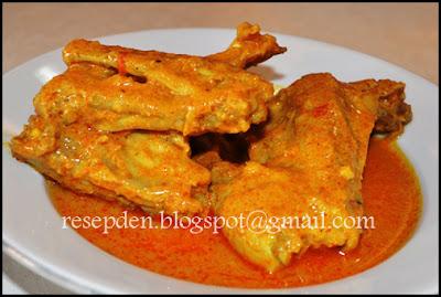 Resep dan Cara Membuat Gulai Ayam