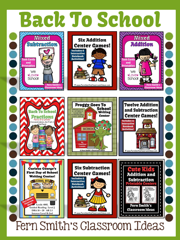 Fern Smith's TeachersPayTeachers BOOST Sale with TPT Discount Code for my Back To School Items!