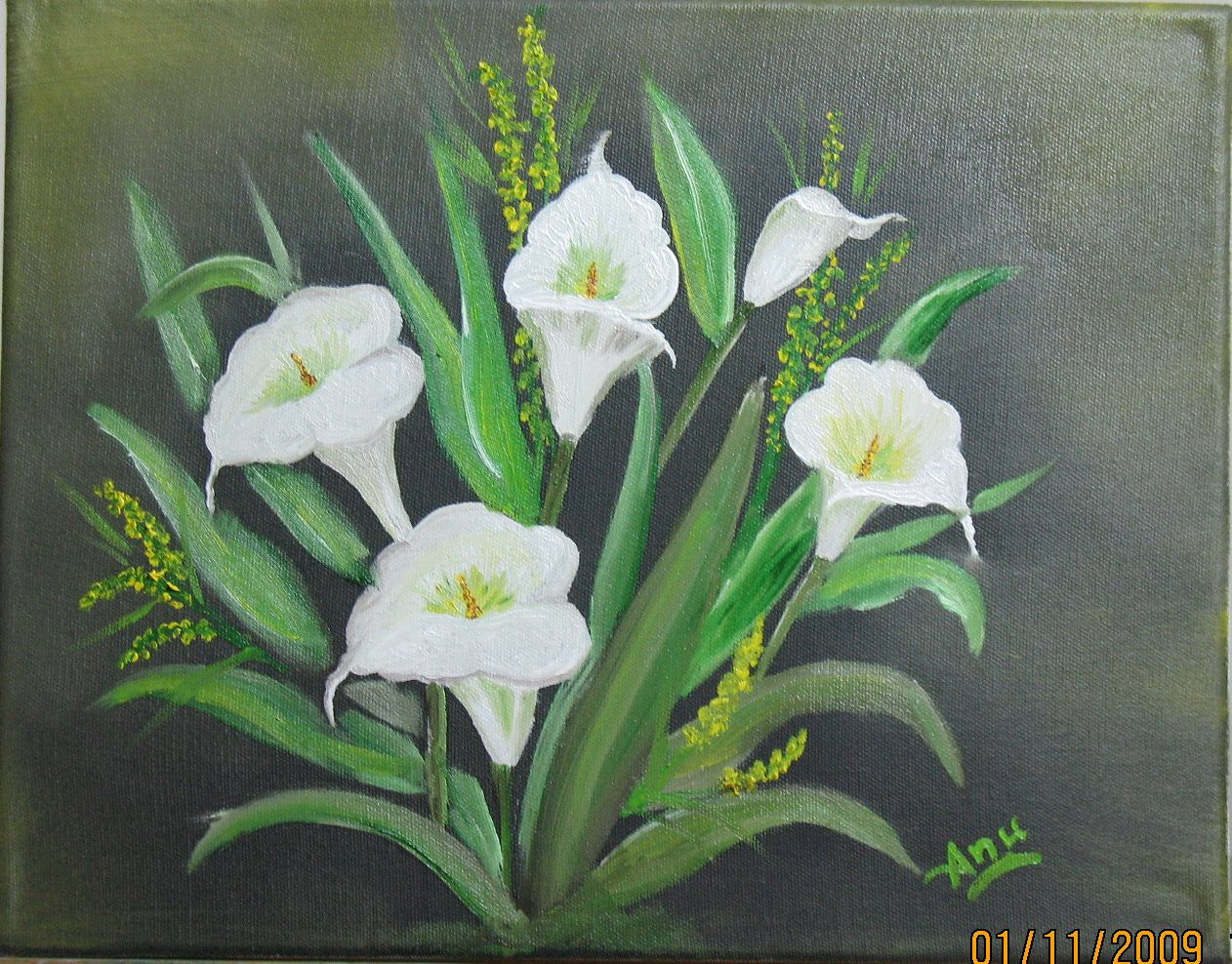 ANU PAINTING AND CRAFTS White Anthurium Flowers