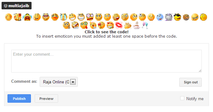 Emoticon on Blogger