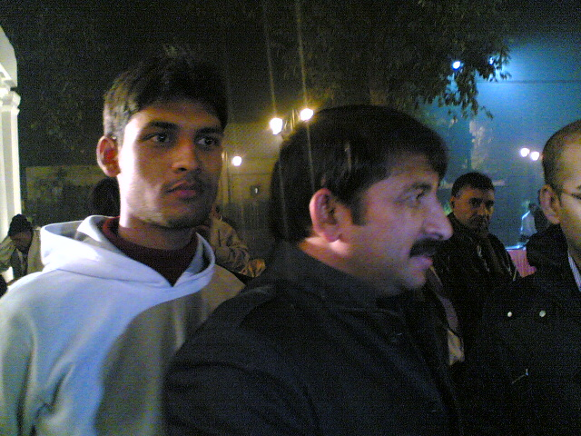 Anshu Dikshant with Bhojpuri Singer and Actor Manoj Tiwari