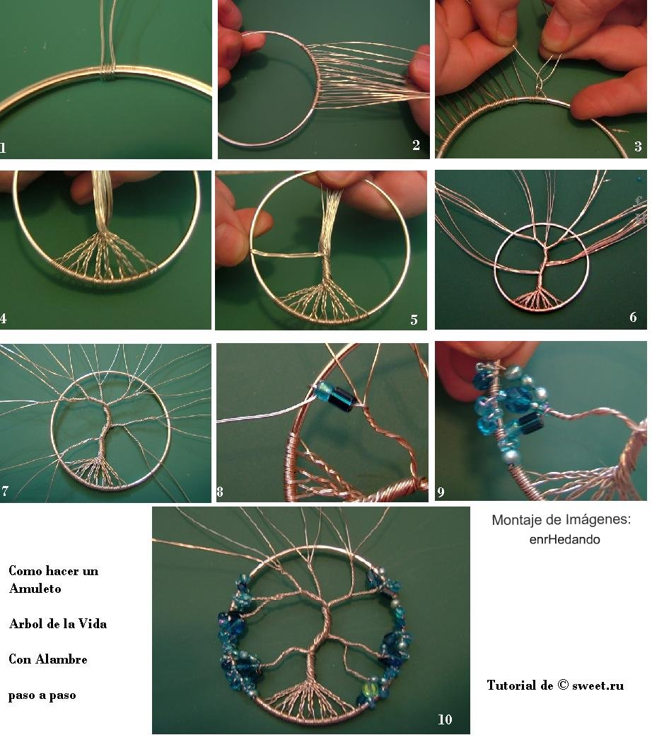 Do it yourself how to make the amulet tree of life tree of life pendant tutorial mozeypictures Choice Image