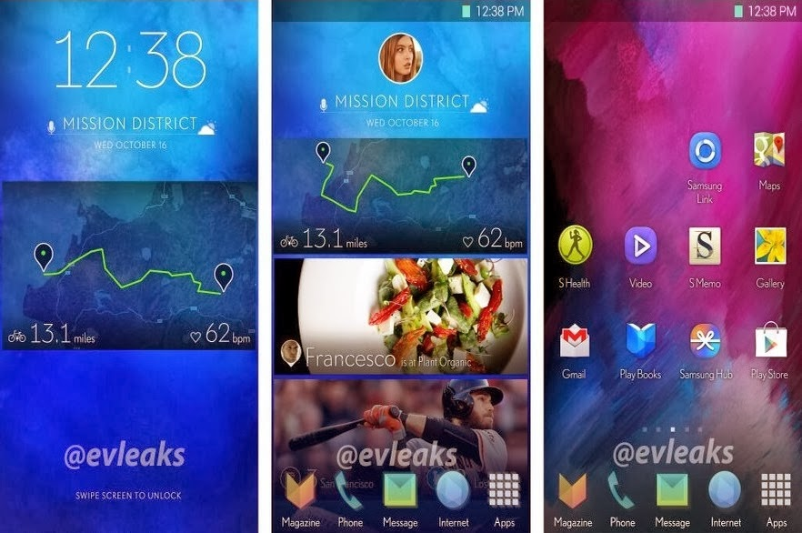 Samsung Galaxy S5 UI Screenshots