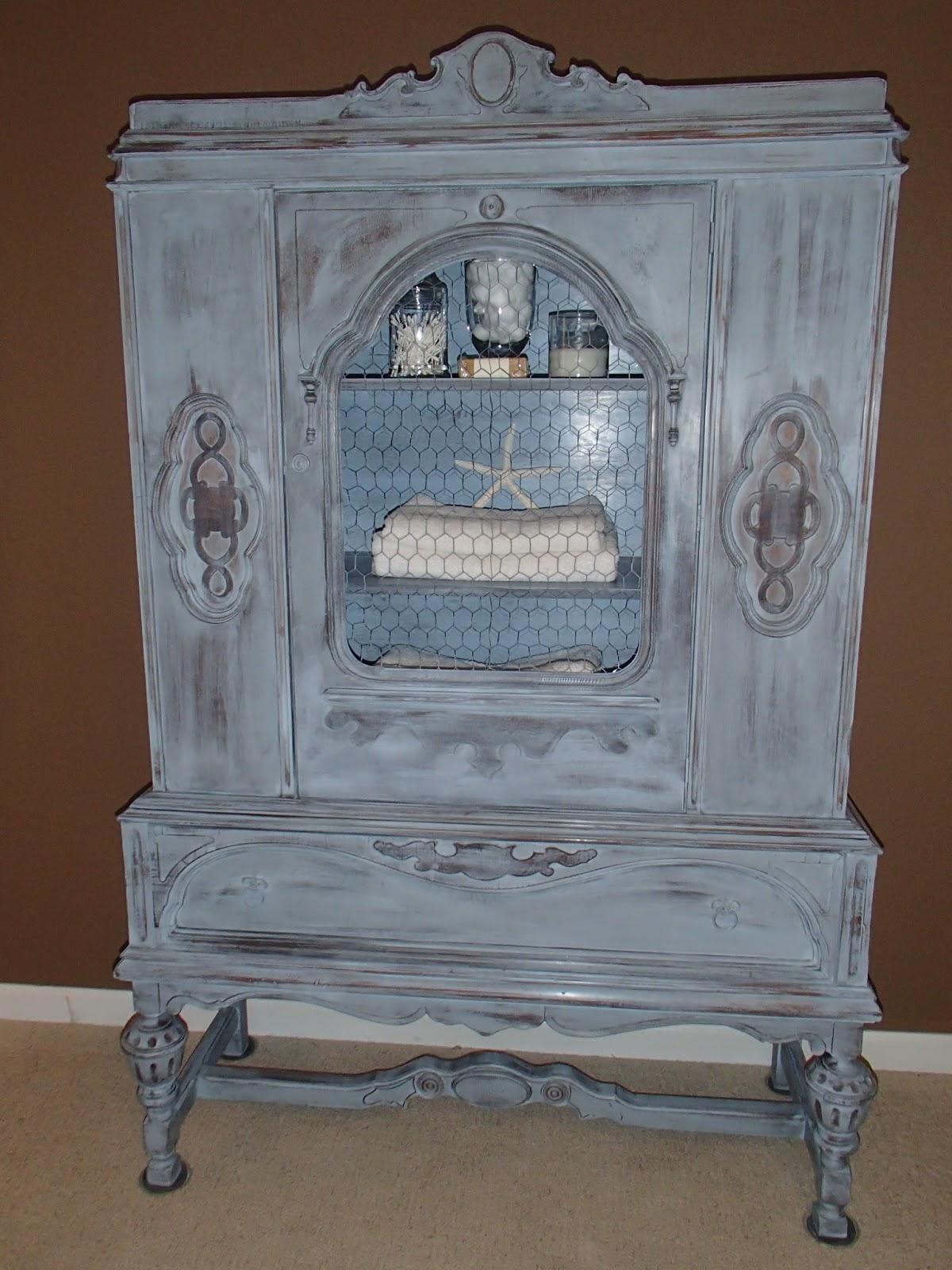 new again louis blue antique china cabinet. Black Bedroom Furniture Sets. Home Design Ideas