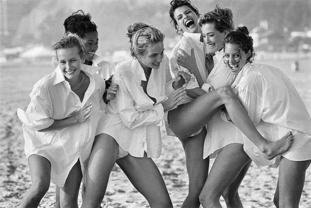supermodels by Peter Lindbergh for Vogue