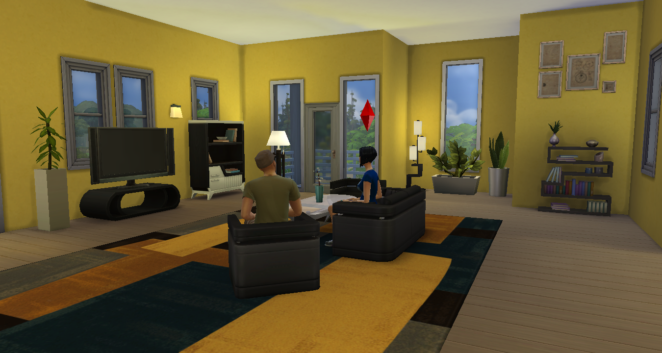 Simsdelsworld the sims 4 modern apartment house for Apartment design sims 3