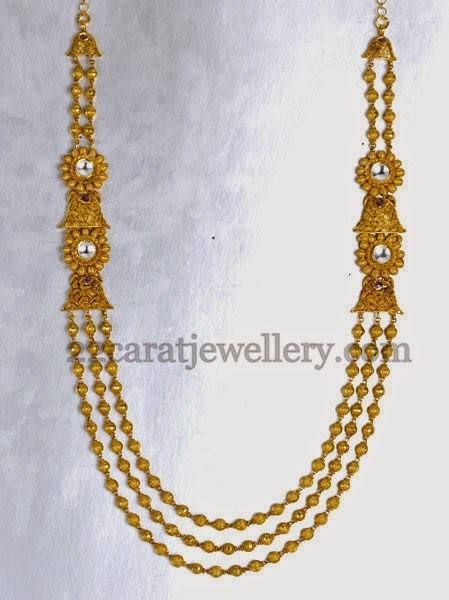 Joyalukkas Simple Beads Haram Jewellery Designs
