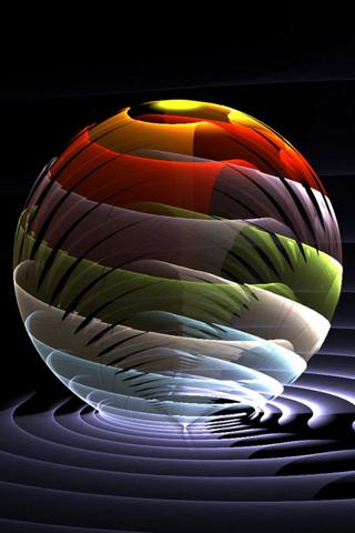 Sphere 3D IPhone Wallpaper