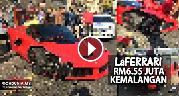Kereta LaFerrari bernilai RM6.55 juta kemalangan